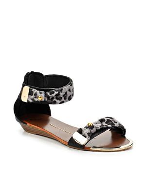 Černé leopardí sandálky Timeless Sarah - Boty 49aa0e12c4