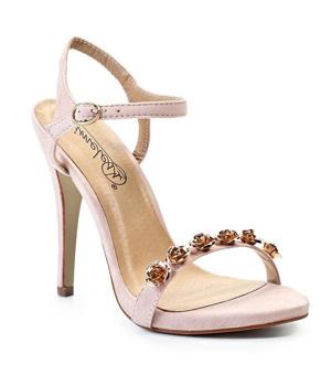 Béžové sandálky na podpatku Timeless Oakden - Boty 94d6480bf4