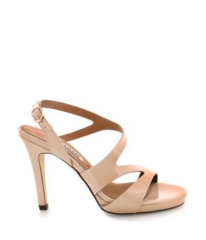 7d464e57f3 Béžové sandály na podpatku MARIA MARE - Boty