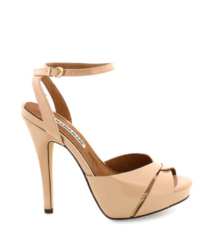 Béžové sandály na vysokém podpatku MARIA MARE - Boty ac386b5b55