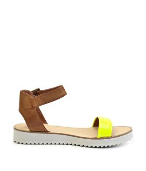 Páskové žluté sandály na platformě Timeless Quing - Boty cbe1c362a7