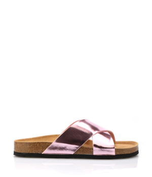 Růžové páskové kožené zdravotní pantofle EMMA Shoes - Boty 4434b37c91